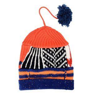 Burberry Unisex Cashmere Wool Patchwork Beanie Hat